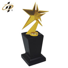 China low price high quality star shape custom gold metal trophy made in china