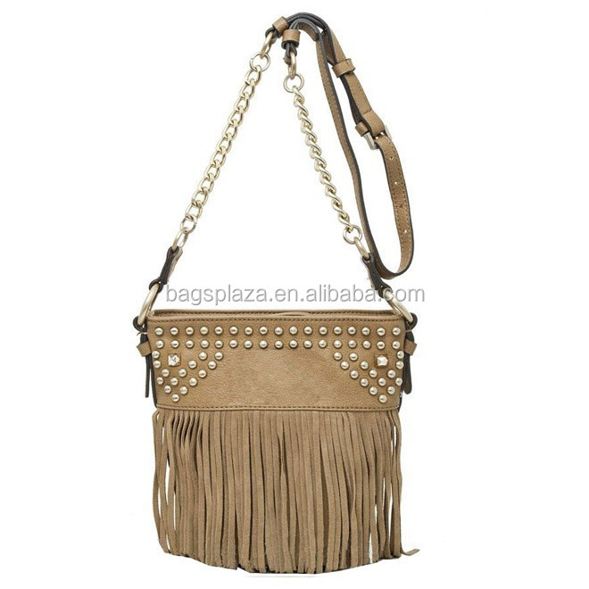 Fashion Paris Style macrame bags Jill Retro Rivet Handbags