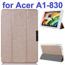 Ultrathin 3-Folding Pattern Flip Leather case for acer iconia a1-830 with holder