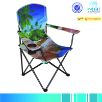 Camping chair with beach pattern
