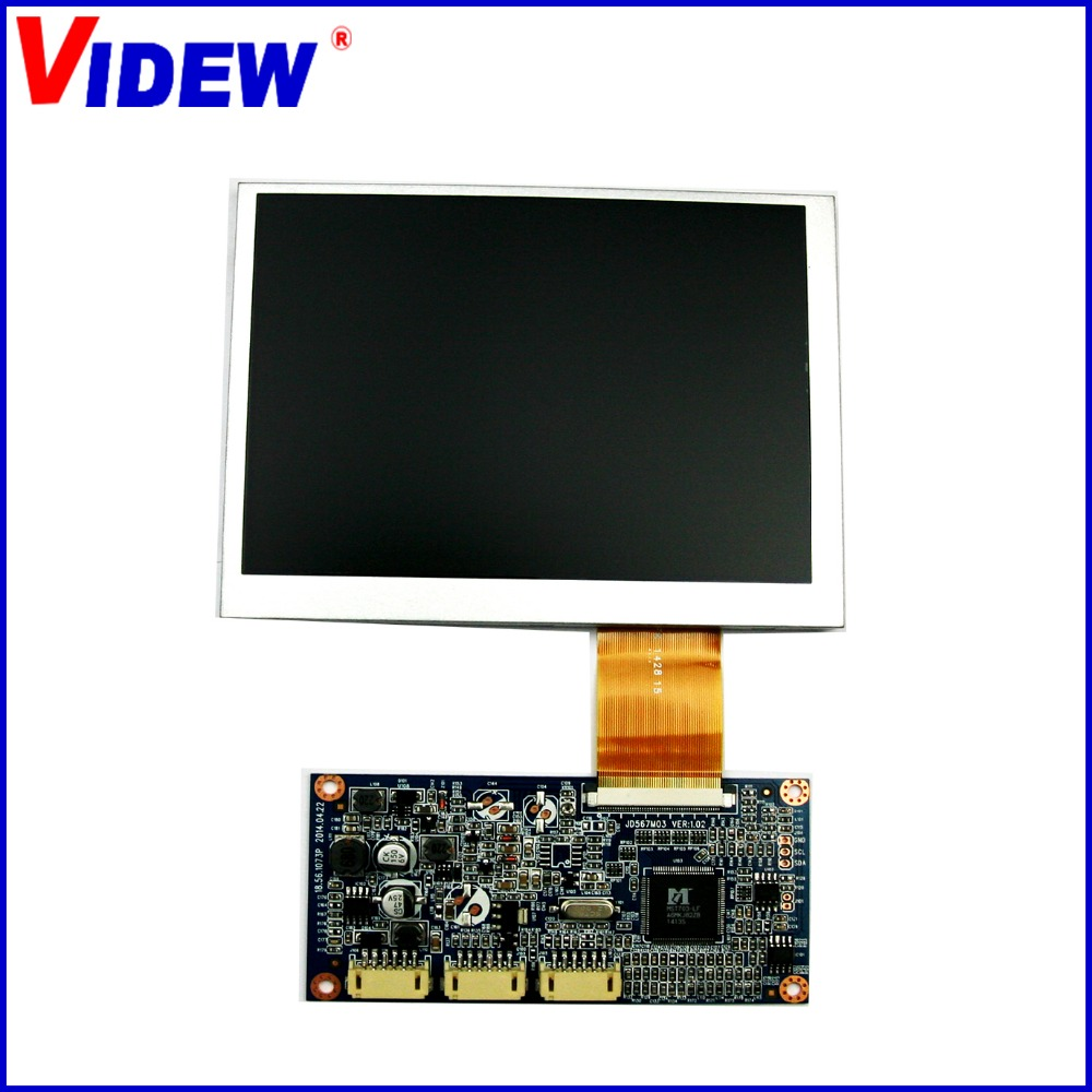 CVBS/VGA signal input pushbutton adjustment OSD menu display 5.6 inch digital TFT LCD module