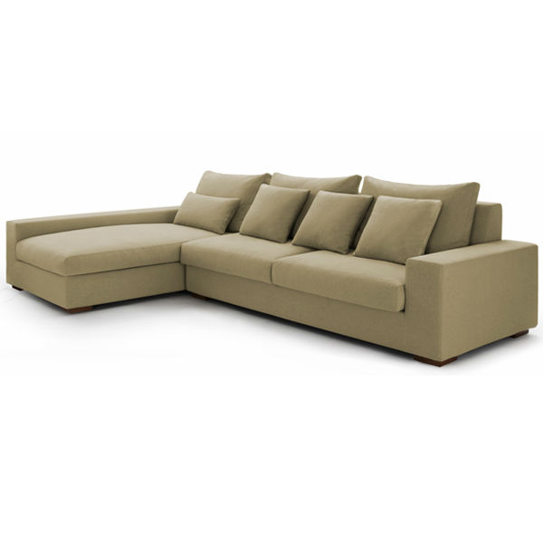Modern fabric sofa set l shaped corner sofa in living room for Sofas modernos en l