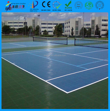 Non cracking non bulking non-slip indoor and outdoor tennis court interlocking mat direct buy in China