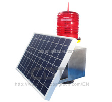 CM-012TR single solar panel medium B intensity obstruction light with battery for long lifespan aircraft LED strobe lights China