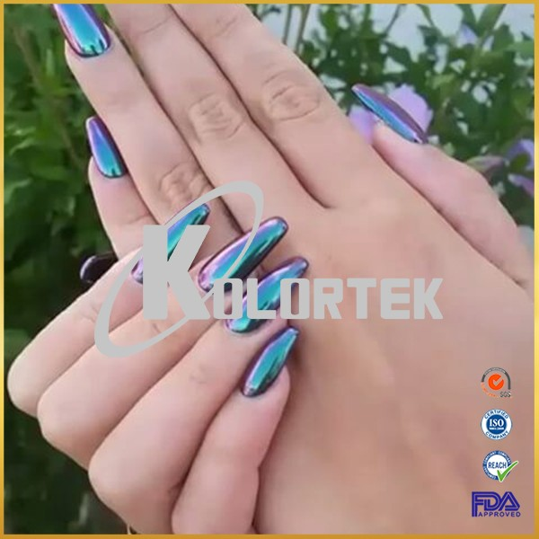 Chameleon nail chrome powder nail dip powder mirror effect powder for nails