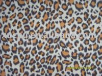leopard print Polyester Printed FDY knitting fabric textile