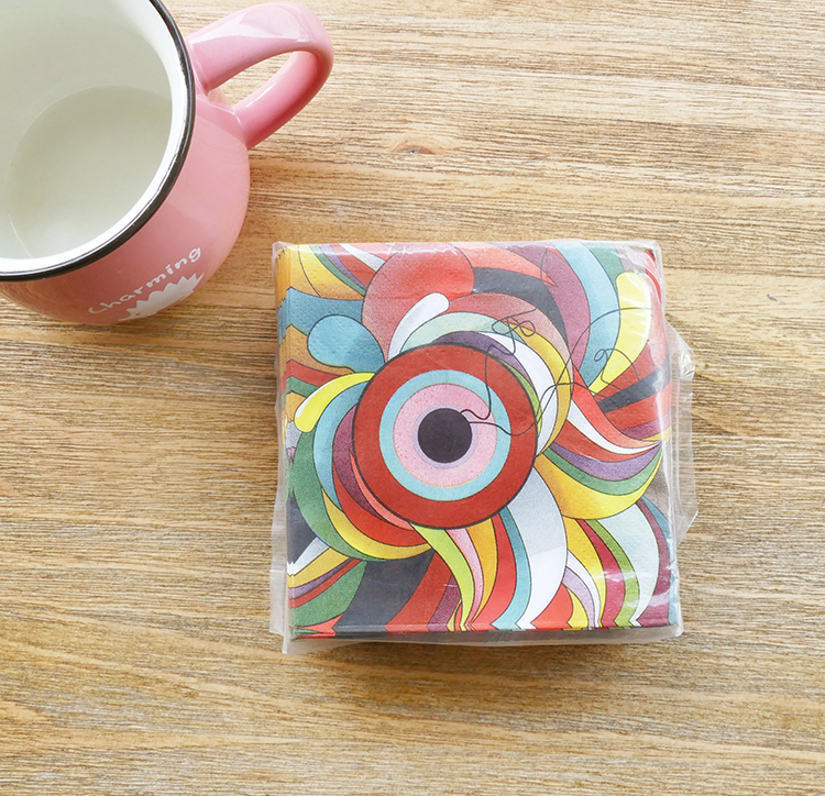 Top selling high quality art design hand paper napkin