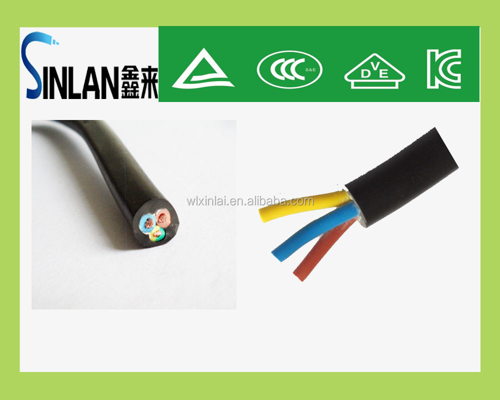 PVC insulated & sheathed multi-core construction building PVC power cable & wire electrical extension cords