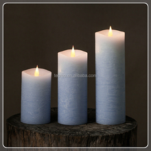 TECMO 3D modern series battery operated with remote and timer flameless moving wick paraffin wax LED candles