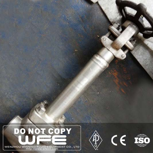 API 602 High Pressure Butt Welded Knife Cast Steel Extended Stem Gate Valve, Gate Valve Stem Cap
