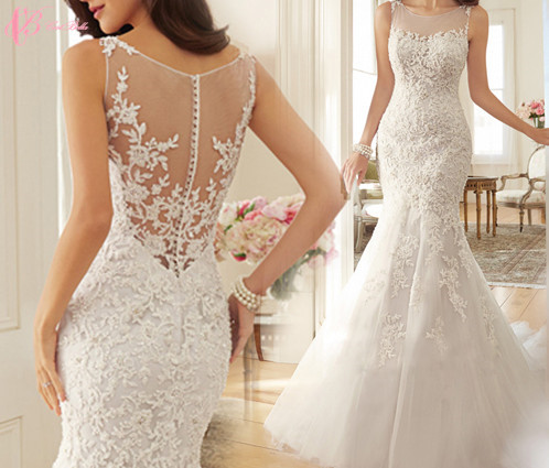 2017 Hot Sale Sleeveless Floor-Length Mermaid Sexy High Quality Guangzhou Factory Wedding Dress