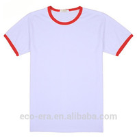 200g 65 Cotton 35 Polyester Color Collar T-shirts , Custom Logo Print , Wholesale Fitness Clothing Order From 50 Pieces