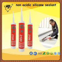 Clear non acidic silicone sealant/acetoxy cure glass curtain wall silicone sealant