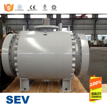 API 6D 3 pieces body ball valve