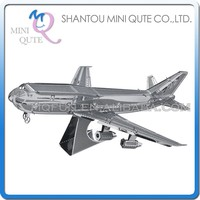 Mini Qute 3D Metal Puzzle Boeing 747 plane warcraft military Vehicle Adult kids model educational toys gift NO.D11104