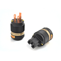 One Pair Audio Grade USA AC Cord Power Plug HiFi American Terminal Audio Jack Connector Female
