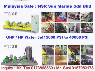 UHP & HP Water Jet Rental/Sales Malaysia