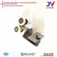 OEM ODM customized Precision casting stamping hanger door stop roller for glass door