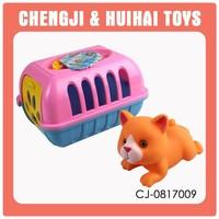 Mini cartoon pet house plastic animal cage toy