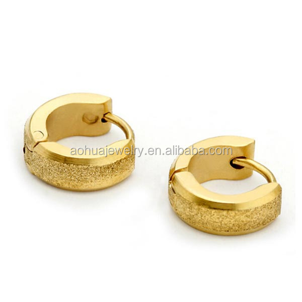 stainless steel simple jewelry fashion gold huggie earring designs for women