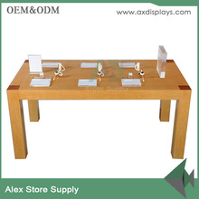 2017 Retail Mobile Phone Display Counter Design Store Wood Display Table With 4 Legs