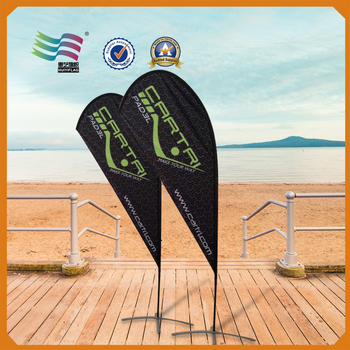 printed feather flag flying banner