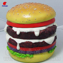 Plastic/Resin Hamburger Model Supplier Artificial Food For Sales Promotion