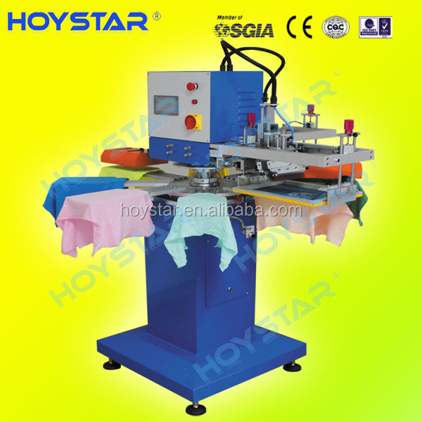 multi-color rapid rotary screen printing machine for t shirt