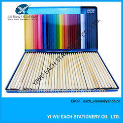 7 inch wooden colour pencil set with iron box