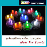Super Bright Dual LED Submersible Floralyte Mini LED Light For Wedding Party Events Centerpiece Decoration