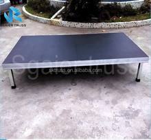 Sgaier good quality portable/assable stage with aluminum alloy stage deck