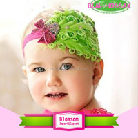 China Cheap Wholesale Kids Hair Accessories,Lovely Flower Feather Elastic Baby Headband