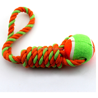 Wholesale colored cotton handmade rope pet toy for dog training