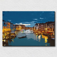 Pop art Venice oil paintings canvas for home decoration