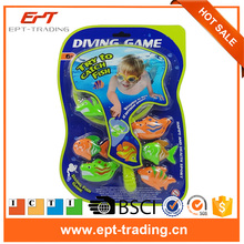 Children water game plastic diving catch fish game toy set