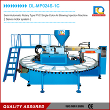 semi automatic rotary PVC shoes single color air blowing injection moulding machine