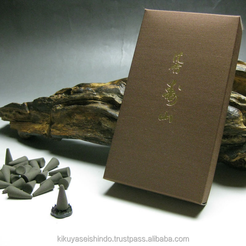 Japanese incense, Jinko Juzan, Economical Pack (24 cones), Nippon Kodo