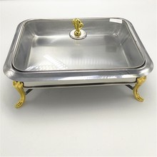 Rectangle Stainless steel buffet hot food display warmer