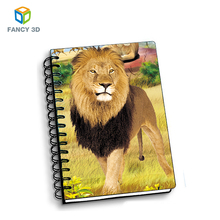 Zebulun Bulk Buying Low Price 3D Lenticular Lion Covers Notepad Spiral Mini Notebook