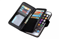 Hot Sale Genuine Real Leather Card Wallet Case Cover for iPhone 5C