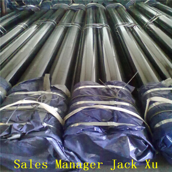 ASTM A106/A53 carbon black asme sa335 p22 seamless alloy steel pipe