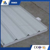 High Quality Insulated Color Steel Polyurethane Sandwich Panel for Wall and Roof