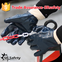 SRSAFTY Full coated three dipping import nitrile heavy duty working gloves with High Quality Jersey liner, made in China