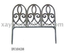 cast iron garden fence
