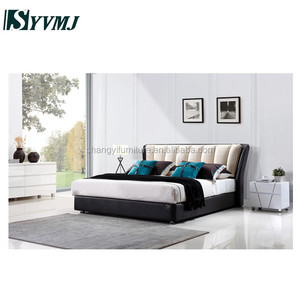 modern fabric king size bed furniture bed room