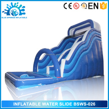 Blue Springs Manufacture Large Plastic Inflatable Water Slide for sale
