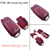 Universal 3 buttons folding switch remote car key fob case shell for VW