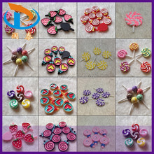 New Arrival Kawaii Beautiful Mixed Color Jewelry Flatback Resin Lollipop Candy Cabochons