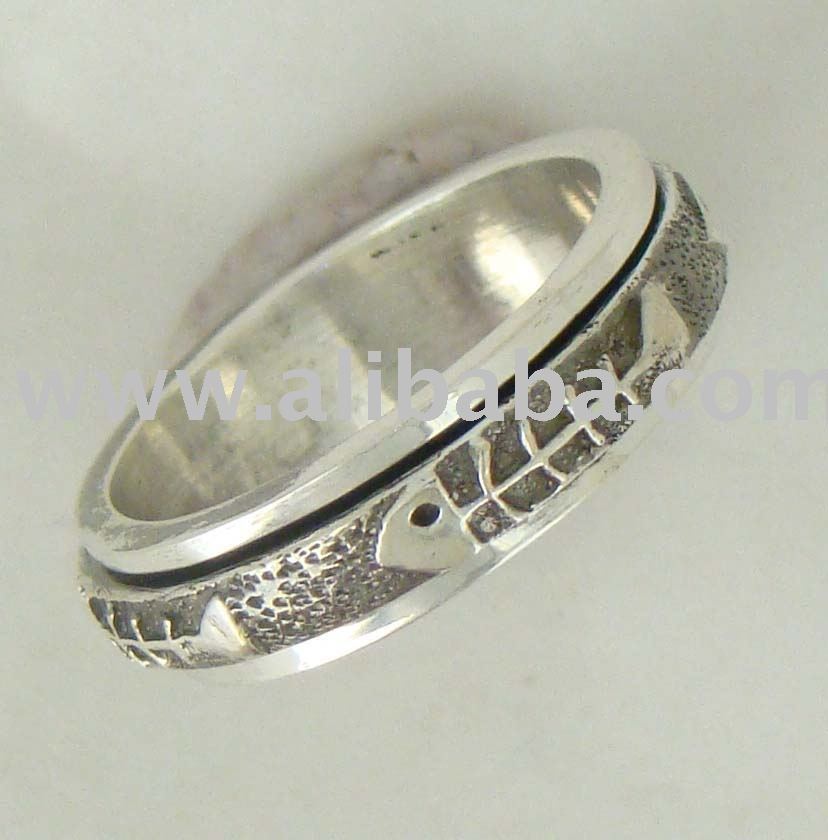 Pure Sterling Silver Spinning Ring