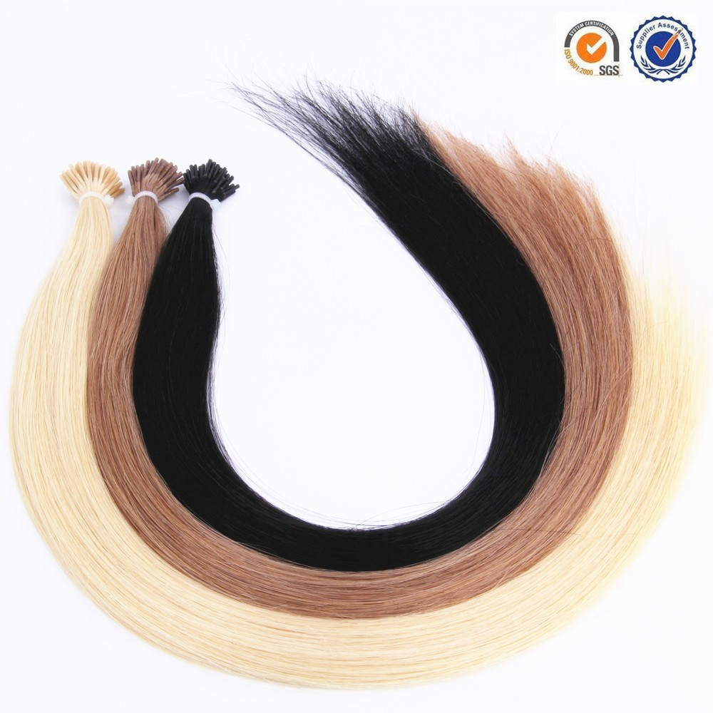 Hot sale 100% remy full cuticle Russian Prebonded i tip in remy human hair extensions
